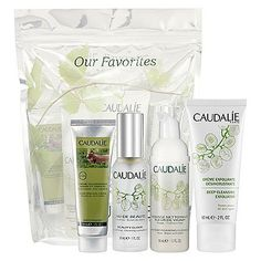 Caudalie Our Favorites by Caudalie. $38.50. A collection of best selling products that keep your skin gorgeous and healthy, and ready for any - and every - event.  A specially priced collection of essential products, expertly curated, so you can try them all for a great value. Set includes four full size products - Beauty Elixir 30ml for radiance, Instant Foaming Cleanser 50ml for balance, Deep Cleansing Exfoliator 60ml for brightening and nourishing Hand and Nail Cream 75...