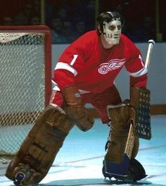 From to 71 played with Wings one season with PIT then returned to DET to Hockey Goalie, Hockey Games, Hockey Players, Ice Hockey, Nhl, Detroit Red Wings, Detroit Hockey, Red Wings Hockey, Goalie Mask