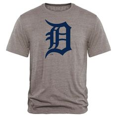 Detroit Tigers Rally Primary Logo Tri-Blend T-Shirt - Heathered Gray - $23.99