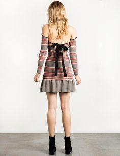 Cameo No Return Stripe Knit Dress
