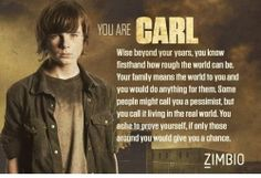 """Chandler Riggs plays """"Carl"""" in The Walking Dead"""