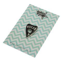 Ouija Planchette Emaille Pin mit Kupplung zurück / / von Punkypins