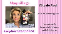 Maquillage avec la palette sephora x sandrea pour les + de 45 ans
