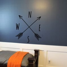 Arrow Compass - Wall Vinyl Decal Sticker Family Kids Room Mural Sky Map Boy Scout Compass Travel Earth Flower Native American Decor Art by LighthouseDecals on Etsy https://www.etsy.com/listing/236039294/arrow-compass-wall-vinyl-decal-sticker