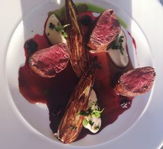 Deer / scorzonera / mashed parsnip / kale   Delicious food  @ Dune Restaurant Cafe Lounge in Mielno