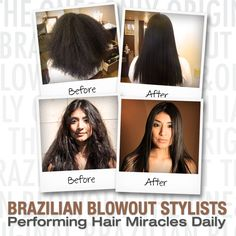 Repair your hair with Brazilian Blowout. This hair miracle with smooth and tame frizz for softer, shinier, stronger hair. Blowout Hair, Brazilian Blowout, Beauty Studio, Split Ends, Strong Hair, Smooth Hair, Hair Trends, Hair Extensions, Salons