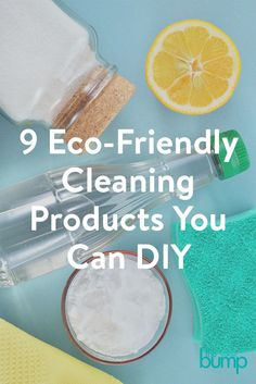 Moms share easy, eco-friendly ideas for making your own safe cleaning products.