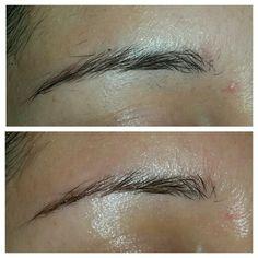Eyebrows threading.