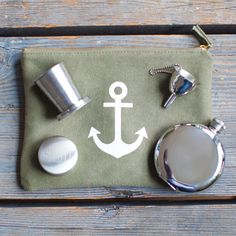The Izola First Aid Kit - travel cup, flask, flask funnel, zip pouch. The best way to survive the summer. #flask #summer #survive