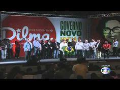 """""""O povo não é bobo, abaixo a Rede Globo"""" - Discurso de Dilma"""