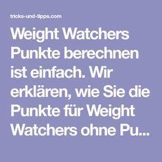 weight watchers punktetabelle kostenlos zum abnehmen. Black Bedroom Furniture Sets. Home Design Ideas
