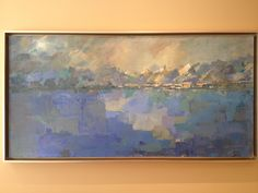 """"""" Clearing """" 48"""" x 24"""" acrylic on canvas By Carla McGillivray"""