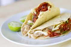 Fish Tacos - Striped Bass Tacos -  Love this idea and at first glance, it looks like these are  light enough for my Shrinking On a Budget Meal Plan.  For budgetary reasons, I would substitute tilapia for the striped bass.