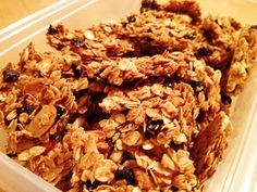 Homemade granola anyone?  Simple, Healthy DIY Snack