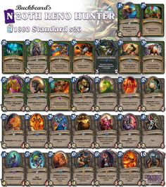 This deck was taken to Legend! Find the strategies through our website! #Hearthstone