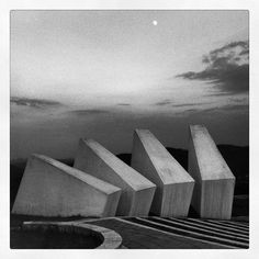 "architectureofdoom: "" michaelbowring: "" Kadinjaca Partisan Monument, near Uzice, Serbia "" View this on the map "" Monumental Architecture, Temple Architecture, Contemporary Architecture, Architecture Details, Landscape Architecture, Landscape Design, Environmental Sculpture, Modern Castle, Brutalist Buildings"