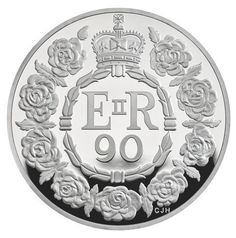 In honor of The Queen's 90th birthday, the Royal Mint has produced a commemorative £5 coin which features a wreath of laurel leaves with four points - symbolising England, Wales, Scotland, and Northern Ireland.