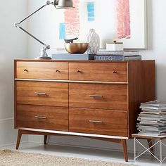West Elm Mid-Century 6-Drawer Dresser | http://www.westelm.com/products/mid-century-6-drawer-dresser-h1286/?pkey=cdressers-nightstands|dressers-armoires|&cm_src=dressers-nightstands||NoFacet-_-NoFacet-_--_-&bnrid=3917500&cm_ven=AfCmtyCont&cm_cat=rewardStyle&cm_pla=CJ&cm_ite=Std