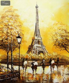 "Paintings Of The Eiffel Tower | ... ART - EIFFEL TOWER IN PARIS 20x24 "" ORIGINAL CANVAS OIL PAINTING"