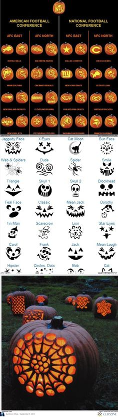 Pumpkin Carving Patterns #jackolanternideas