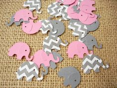 50 Elephant Baby Girl Shower Confetti No1075 - http://www.babyshower-decorations.com/50-elephant-baby-girl-shower-confetti-no1075/