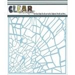 """6x6"""" Clear Scraps Stencil - Shattered Glass"""