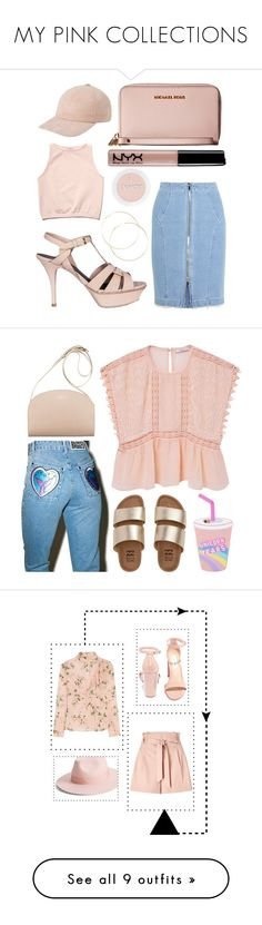 """MY PINK COLLECTIONS"" by yahav8-2002 ❤ liked on Polyvore featuring Yves Saint Laurent, Free People, Steve J & Yoni P, MICHAEL Michael Kors, MANGO, The Ragged Priest, Billabong, ruffles, Topshop Unique and Miss Selfridge"