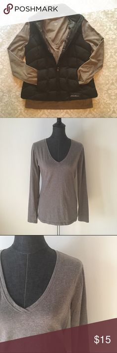 "Banana Republic Mocha Long Sleeve V-Neck d e s c r i p t i o n  Simple but gorgeous, this mocha Banana Republic long sleeve V-neck is a style staple for any closet. NWOT.  c o n t e n t  95% cotton | 5% spandex    m e a s u r e m e n t s ✂️  size + M > bust + 18"" > length + 25.5""    p a i r e  w i t h 🌙  + Hayden vegan leather vest + black wash jeans + BCBG patent heels  💵 bundle for a discount Banana Republic Tops Tees - Long Sleeve"
