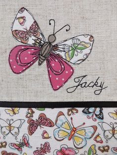 SewforSoul - Free-style machine embroidery with applique butterfly