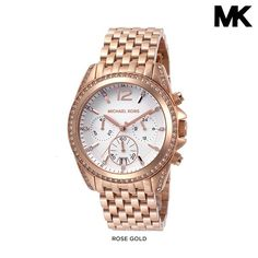 Michael Kors Women s Pressley Chronograph Watch with Stainless Steel Strap  - Assorted Finishes Michael Kors Watch 8580d41d5e