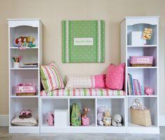 DIY Storage Reading Nooks using Book Shelves!