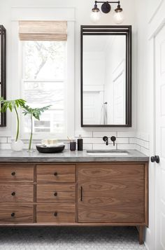 walnut bathroom vani