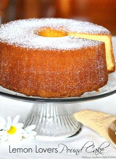 If you're a fan of pound cake try this Lemon Lovers Pound Cake. Top with berries and whipped cream or enjoy it alone for a taste of a true Southern classic. Also to be used with Lemon Lovers Trifle! 13 Desserts, Lemon Desserts, Lemon Recipes, Delicious Desserts, Dessert Recipes, Plated Desserts, Cupcakes, Cupcake Cakes, Pound Cake Recipes