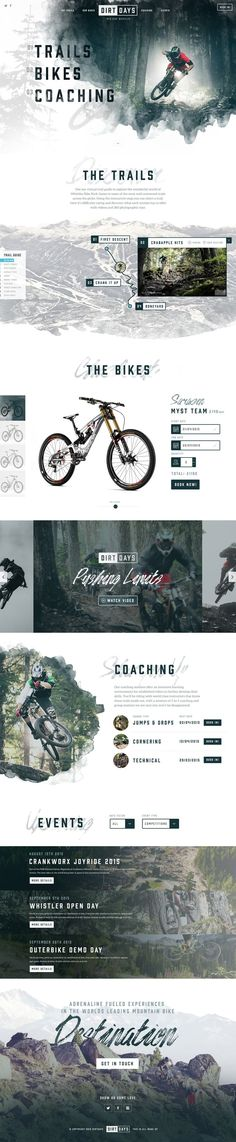 Dirtdays Website Concept on Inspirationde Webdesign Inspiration for simple and minimal, minimalistic Websites. Clean Layout and User Interface Designs, Portfolios, Fashion, Landing Pages and Modern Templates Layout Design, Layout Web, Design Sites, Interaktives Design, Modern Web Design, Web Ui Design, Page Design, Design Trends, Sport Design