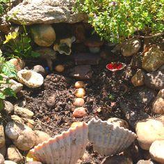 Fairy House in my herb garden