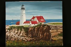 Portland Maine Lighthouse New England by TheSouthernLadyGent, $20.00