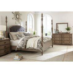 Light Wood Classic Traditional 6 Piece Queen Bedroom Set - Corinne