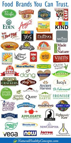 A list of some food brands you can trust.  Big Food brands like General Mills, Kellog, Pepsi, Coca-Cola, M&M, etc. are buying up small organic brands who don't have our health in their best interest. For example, General Mills now owns Cascadian Farms, Muir Glen & LaraBar. Kellog owns Morning Star, Kashi & Bear Naked. Pepsi owns Naked Juice.   The best way to go is to grow your own, or shop local! Try your farmer's market, hit up a local CSA or Co op.