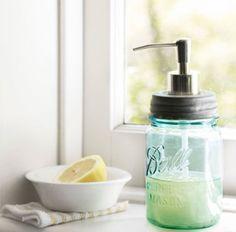 How To Make A Mason Jar Soap Dispenser & Lemon Soap