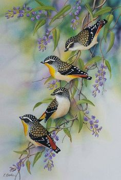 Birds Painting, Glass Painting Patterns, Art Painting, Abstract Art Wallpaper, Vintage Birds, Watercolor Paintings Nature, Bird Silhouette, Bird Drawings, Watercolor Bird