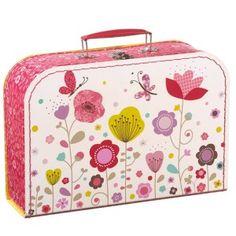 Valise en carton Fleurs- Mini labo
