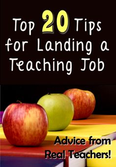 Corkboard Connections: Top 20 Tips for Landing a Teaching Job - Great tips shared by fans of the Teaching Resources Facebook page