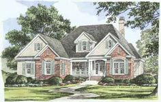 Home Plans HOMEPW07078 - 2,194 Square Feet, 4 Bedroom 2 Bathroom Country Home with 2 Garage Bays