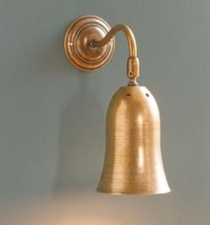 Eleigh Wall Light in Antiqued Brass made by Jim Lawrence