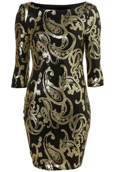 BAROQUE BODYCON DRESS