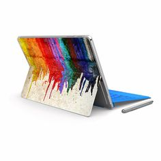 Hey, I found this really awesome Etsy listing at https://www.etsy.com/listing/472405013/surface-pro-4-sticker-microsoft-surface