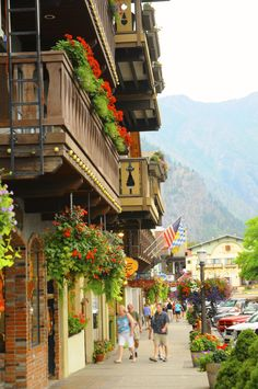 Bavarian village-Leavenworth, Washington.