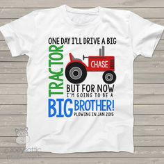 tractor big brother shirt colorful perfect pregnancy by zoeysattic