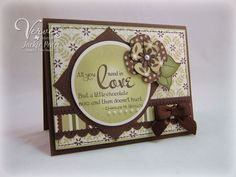 Card in brown and green - multiple layers.