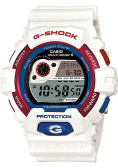 G-Shock Limited Edition Tri-Color Maritime Red White & Blue Digital